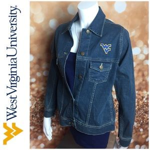 West Virginia University Denim Jean Jacket  M